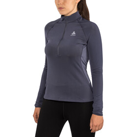 Odlo Zeroweight Warm 1/2 Zip Midlayer Women odyssey gray
